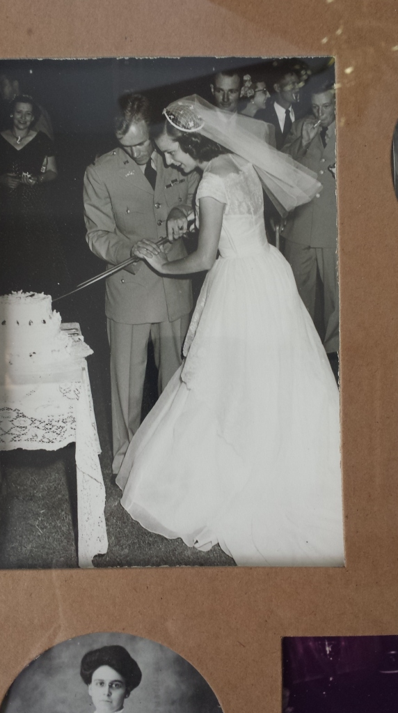 My grandparents at their wedding in 1951.